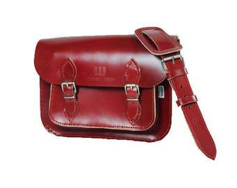 Burgundy Satchel Cherry satchel Berry Coloured Satchel Red Satchel Dark Red Satchel