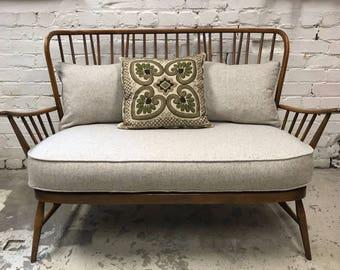 SOLD*******Restored Ercol Evergreen 2 seater sofa