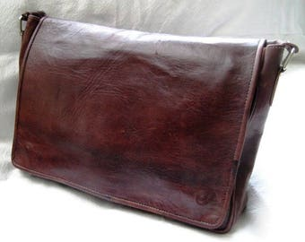 """Hello"" dark chocolate soft leather bag"