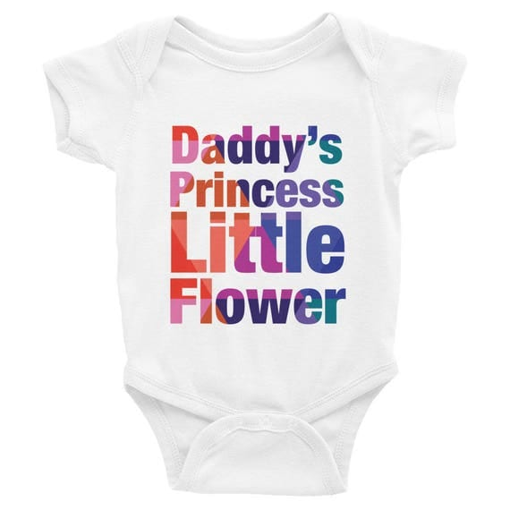 Infant Bodysuit - Daddy's Princess Little Flower Colorful Onesie