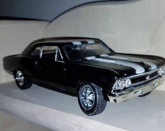 Vintage, Maisto, 1966, Chevrolet Chevelle, SS 396, scale 1/24, die cast, car model, vintage toys