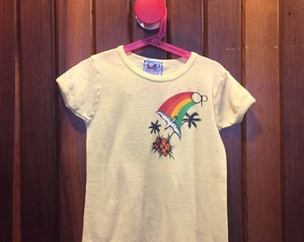 1980s // LIL SOUTH PACIFIC // Vintage Ocean Pacific Sunwear Kid's T-Shirt