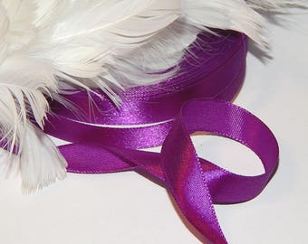 4 meter for crafting and sewing 12 mm purple satin ribbon