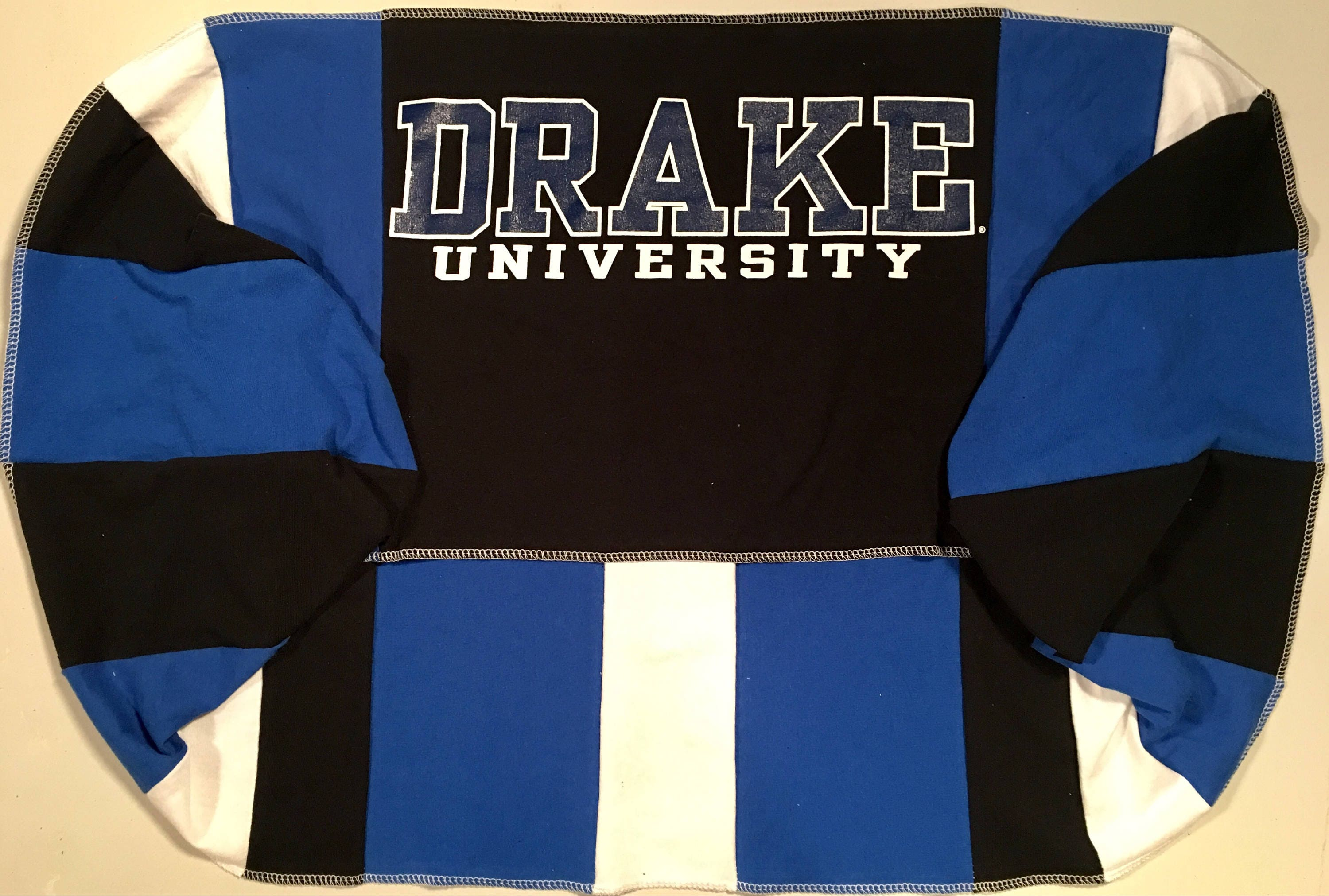 Infinity Scarf DU DRAKE University BULLDOGS Team Spirit Upcycled Woman's T-Shirt New Handmade Loop Scarves