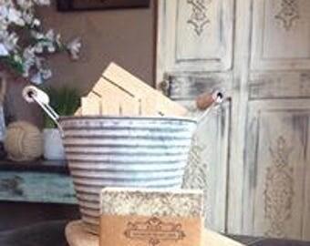 Green tea soap, handmade soap, all natural soap, vegan, rustic