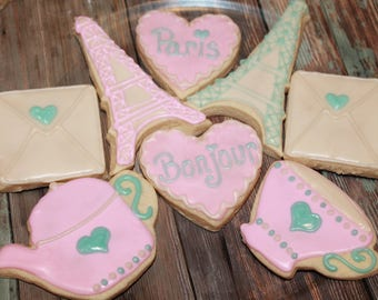 Paris Themed / Tea Party Vanilla Sugar Cookies