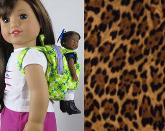 Mini Doll Backpack in Leopard