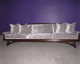 "Adrian Pearsall sofa - Newly ""professionally refinished and professionally upholstered"""