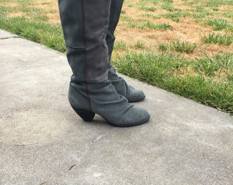 Miss Sixty Dark Grey Distressed Boots Size 7