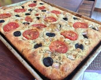 Roasted Tomato and Olive Focaccia
