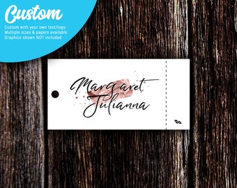 Tear-Off Custom Tags | Jewelry Tags | Price Tags | Clothing Tags | Hang Tags | Rectangle | SH232