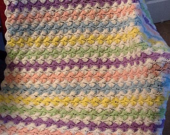 Baby blanket, vintage, crochet