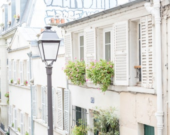 Paris Photograph, Montmartre Paris, Charming Paris Photo, Paris Village Photo, French Decor
