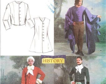 Butterick 4155 Men's Historical Vest and Jacket Sewing Pattern, L-XL