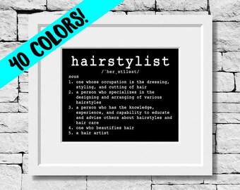 Hairstylist Definition, Hairstylist Quote, Hairstylist Print, Hairdresser Gifts, Hairstylist Prints, Hairdresser Quotes, Hairstylist Quotes