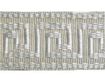 "10 yards of 1"" Wide Elegant Greek Key Gimp/Tape/Braid.......NEW.......so many uses"