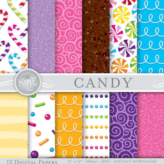 CANDY Digital Paper / Candy Patterns Printable / Candy Prints ...
