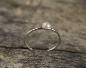 925 Silver ring with pearl