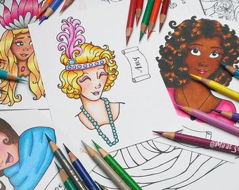 Breeze Digital Coloring Book 19 Printable Coloring Pages