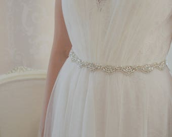 Crystal Bridal Sash/Belt, Wedding Dress Belt, Rhinestone Bridal Sash/Belt