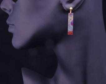 Copper Earrings, Rainbow Earrings, Heat Patina, Fire Painted, Earrings, Boho Chic, Bohemian Earrings, Handmade, Abstract, Jewelry