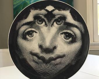 Vintage Fornasetti Plate #185, Mid Century Modern