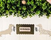 Dachshund Kisses Valentine's Day Black and Gold Handmade Paper Garland