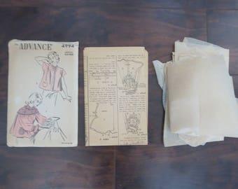Advance 4994; Era 1940s Bed Jacket
