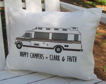 Personalized Travel Pillow, Motor Home Pillow, Camper Pillow, Personalized Pillow, Vintage Motor Home, Class B Motorhome, Travelcraft
