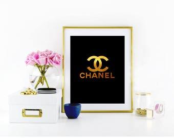 Coco Chanel prints, Fashion prnits, Coco Chanel Logo, CC, Chanel, Coco chanel fashion