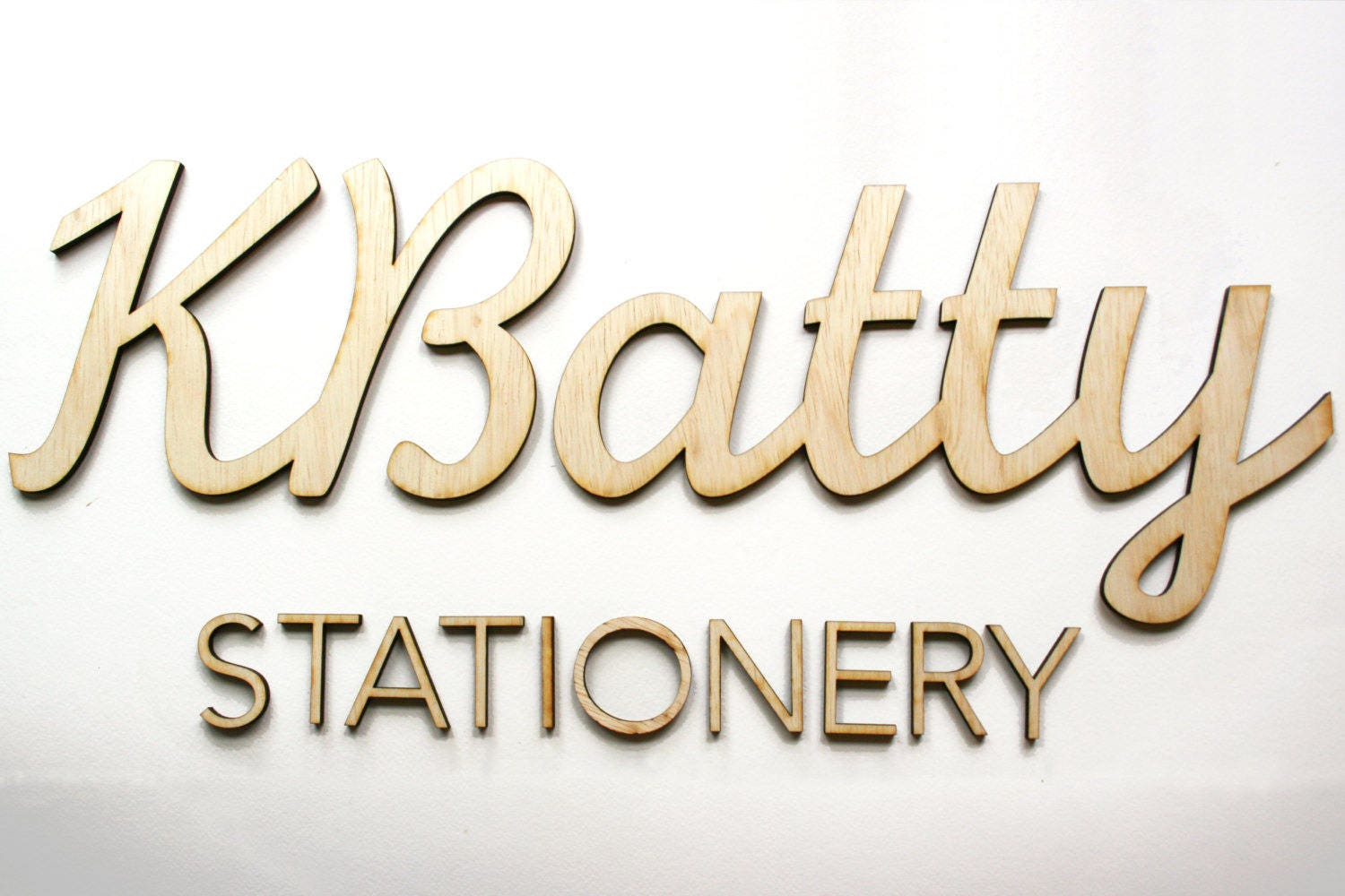 Wood 3D Letters For Sign For Katehana