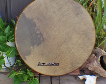 """18"""" American Buffalo Hide Native American Made Hand Drum William Lattie Cherokee Certificate of Authenticity FREE US SHIPPING"""