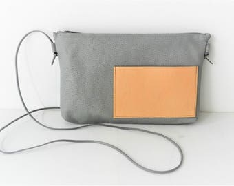 Small Bag| Grey Bag| Handbag| Gray Bag| Crossbody Bag| Minimalist Bag| Women's Bag| (Imitation) Leather Bag