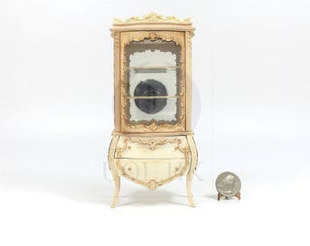 """Miniature 1:12 Scale """"Escala"""" Display Cabinet For Doll House [Unpainted/Unfinished]"""