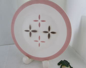 Steubenville Sequence Bread Plate Steubenville china small plate Steubenville plate Sequence plate pink and white china pink and white plate