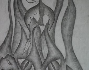 Selves, original sketch