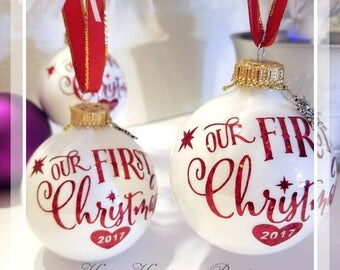 Our First Christmas Ornaments/Personalized Christmas Ornaments/Our 1st Christmas.