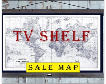 "SALE MAP.  40x60  Pull Down with TV Shelf.  60""w x 40""h."
