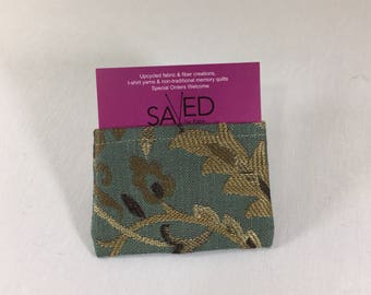 Card Wallet, Unlined, made from Upcycled Upholstery Fabric Samples