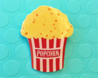 "Femme Foodie Collection ""Circus Popcorn"" Vintage Inspired Circus Popcorn Pin"