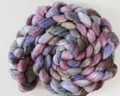 Shetland Banana Silk,Ghost of Elder,4,0oz top, handdyed fiber for spinning
