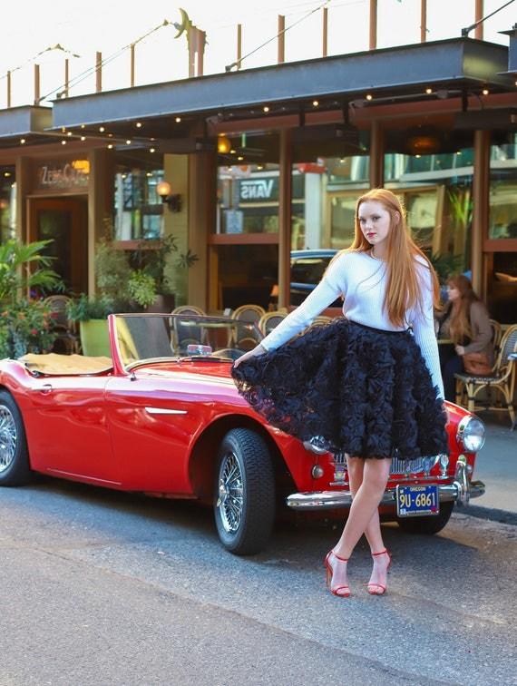 Holiday Rosette Skirt
