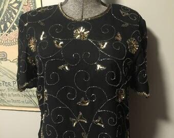 Marina by Marina Bresler beaded shirt