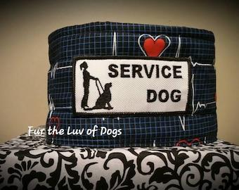 Service Dog Collar, Sweetness Collar, Dog Collar, Padded Choke Collar