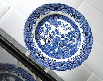 Vintage Churchill Willow Pattern Tea Side Plate