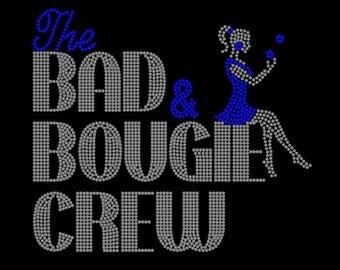 The Bad & Bougie Crew Rhinestone Tshirt