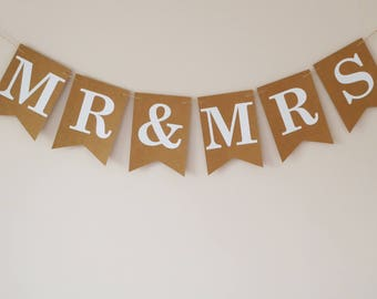 Mr & Mrs bunting banner wedding decorations