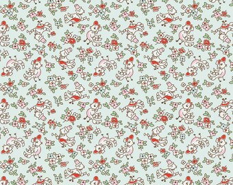 Little Dolly - Elea Lutz - C6363-BLUE - Dolly Birds Blue - Penny Rose Fabrics - Riley Blake Designs - IN STOCK