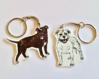 Staffy Keyring