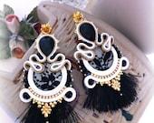 Soutache Earrings, Handmade Earrings, Soutache Jewelry, Handmade from Italy, -20%